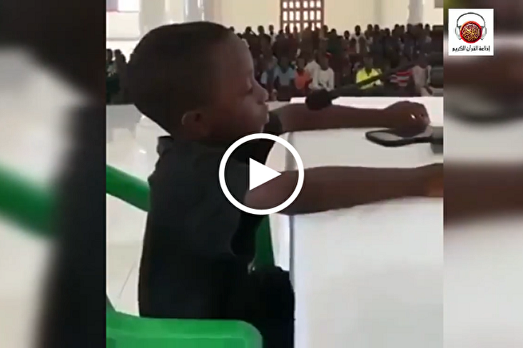 Beautiful Tarteel Recitation of Quran by African Boy (+Video)